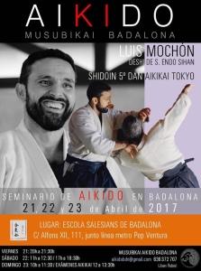 Cartell Curs d'Aikido Luis Monchón