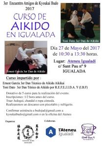 Cartell Curs d'Aikido Ernest i Toni