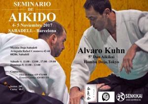 Cartell Curs d'Aikido Álvaro Kuhn